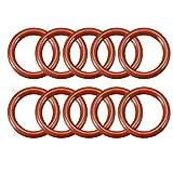 Sourcingmap guarnizione O-ring in silicone, diametro esterno 10mm, anelli guarnizione rosso, a18032800ux0109