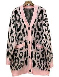 miglior servizio 36fa9 2e592 Amazon.it: leopardato donna - Maglioni, Cardigan & Felpe ...