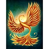 Pitaara Box Magic Firebird - LARGE Size 20.0 Inch X 26.7 Inch - UNFRAMED ARTISTIC CANVAS Wall Paintings : DIGITAL PRINT Artwork Like Hand Paintings : Beautiful Home Interior Wall Décor Photo Gifts & Decorative Paintings For Bedroom, Living Room