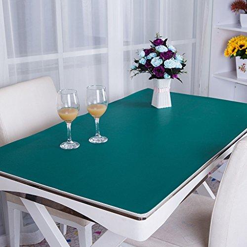 Küche Tischdecke PVC Tischdecke, Schreibtisch Mats Büro Schreibtisch Mats Computer Tisch MATS Business Case Schreibtisch Mats Operator Station 2,8mm Tischdecke (Farbe: grün, Größe: 90* 150cm) (Stickerei-overlay)