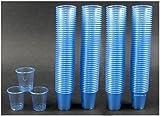 1530 Schnapsbecher / Medikamentenbecher / Farbe: Hellblau / 2cl – 3cl einweg Schnapsgläser / Exklusives Angebot der Marke EVENTpac