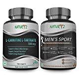#5: Naturyz L- Carnitine L- Tartrate 1000mg (Double Strength Formula) Amino acid for Muscle, Brain & Heart -60 tablets + Naturyz Men's Sport Advanced Daily Multivitamin (55 Nutrients, Vitamins, Minerals, Amino acids, Enzymes, Antioxidants, Herbal Extracts) - 60 Tablets