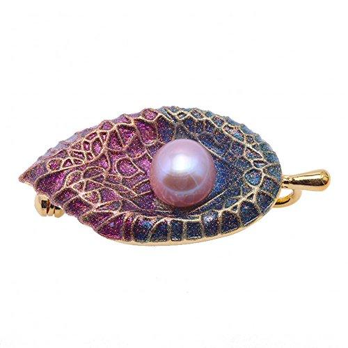 JYX Pearl Broschen Lavendel fein Süßwasserperle Broschen Pins für Frauen