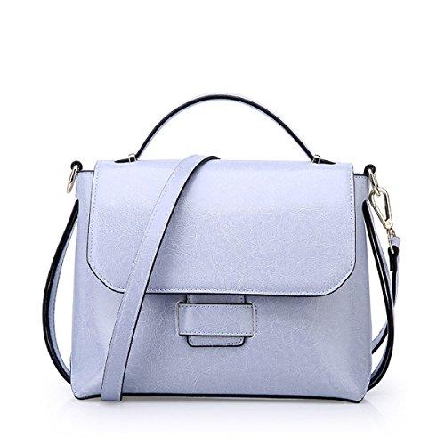 Handtaschen Damen-Tasche Damen-Tasche Mädchen Party Retro Damen Mode Kollokation Handtasche Umhängetasche Kuriertasche Ledertasche,Blue-OneSize -