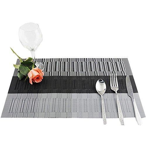YUANLINGWEI Küche Tischset Untersetzer Kaffee Tee Rechteck Unterlage Küche 4 Pcs (30 cm × 45 cm),...
