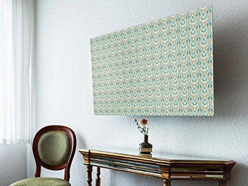 Orientalische Blättern (screencover - Abdeckung für Ihren Flatscreen, alle Zollgrößen möglich, Material Hartschaum weiß, mit Motiv Orientalische Blätter, Größe 62'' TV (150cm x 88cm))