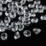 OUTUXED 288Stk 20mm Deko Diamanten Acryl Kristall Transparent Groß Tischdeko Streudeko Hochzeit Geburtstag Kommunion Dekoration