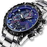 Herren Uhr Männer Militär Chronograph Wasserdicht Designer Edelstahl Armbanduhr Mann Luxus Sport Mode Coole Datum Analoge Blau Uhren