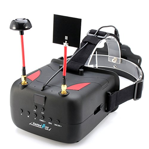 "Elikliv Eachine VR D2 DVR Video-Schutzbrillen 5 ""40CH Raceband Wireless FPV Goggles Aufnahme 2000Mah Batterie für FPV Racing Quadcopters"