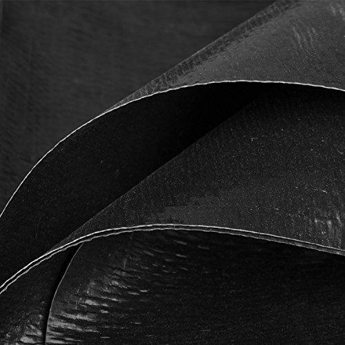 Premium PE Teichfolie 3m x 4m = 12qm Schwarz für Gartenteich;0,3 mm Stärke, UV-Beständig, reißfest, umweltfreundlich -