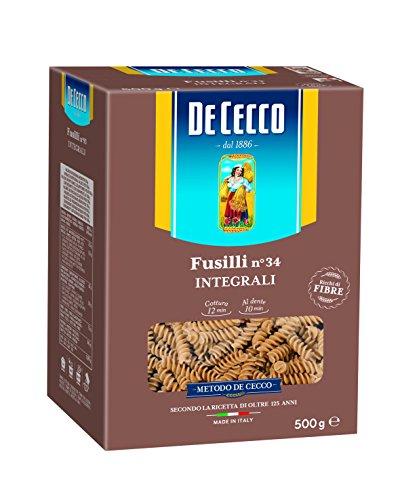 De Cecco Fusilli Whole Wheat Pasta No. 34 500g 100% Italian!