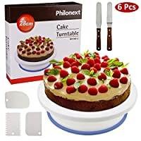 Philonext, 10.8 Inches Professional Cake Plate, Rotatable Cake Stand, Decoration, Icing, Turning Plate, Turntable Stand, Plastic, Style, 1 m