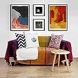 Algodón Punto] Manta del tiro del sofá Vendimia Con flecos Decoración La cubierta del sofá A...