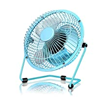 CAO-LIFE Desk Fan Electric Personal USB Desktop Fan,2 Speed, Quiet Operation, Ideal For Home And Office (Color : Pink)