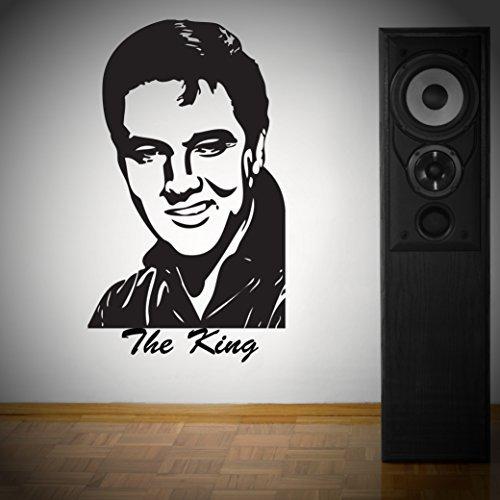 Elvis the King Wanddekoration Aufkleber Vinyl Transfer Aufkleber 1000x 600mm (Farbkarte Siehe)