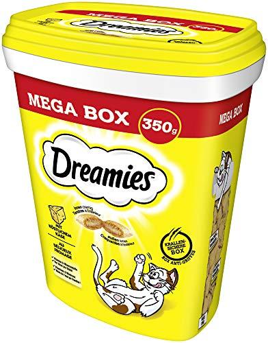 Dreamies Katzensnacks Katzenleckerli MegaBox mit Käse, 2 Dosen (2 x 350g)