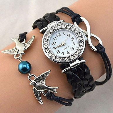 schone-uhren-damen-armbanduhr-quartz-pu-band-vintage-glanz-bohmische-perlen-cool-bequem-schwarz-weis