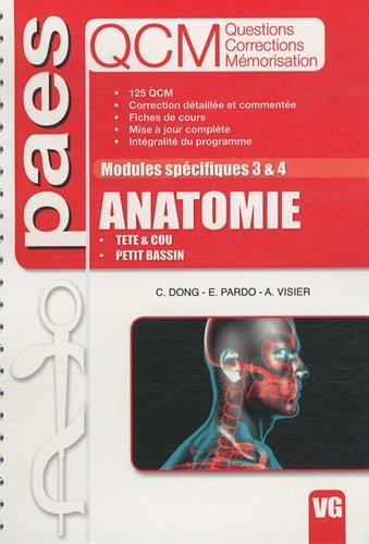 Anatomie Modules spécifiques 3 & 4 : Tête & cou, petit bassin