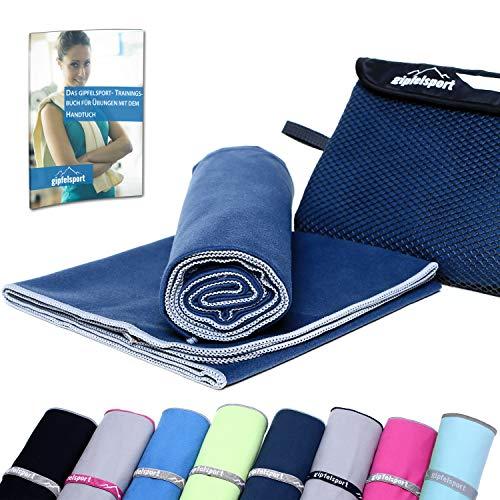 gipfelsport Mikrofaser Handtuch Set – Microfaser Handtücher für Sauna, Fitness, Sport | Strandtuch, Sporthandtuch | 8 Größen | 12 Farben