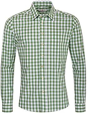 Almsach Trachtenhemd Hansl Slim Fit in Grün Inklusive Volksfestfinder