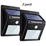 20 LED Solar Lights Motion Sensor Wall Lights by KAINI , 3-in-1 Wireless Weatherproof Security Lamp for Garden, Patio, Walkway Lighting(2 Pack ,3 Intelligent Modes )
