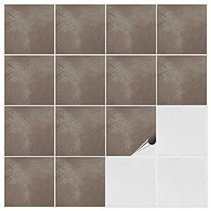 FoLIESEN 2292020 - adesivi per piastrelle, per cucina e bagno, PVC, Dekor Big Muddy, 200 pz