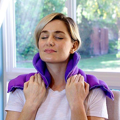 Preisvergleich Produktbild My Heating Pad Hals Und Schulter Wickeln Sie Wiederverwendbare Wärme Therapie Bio Eukalyptus Ätherisches Öl Natürlichen Stressabbau (Lila)