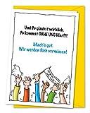XXL-Karte zum Abschied von Kollegen oder Freunden in Rente, Ruhestand, Umzug, Ausland inkl. Umschlag (DIN A4)