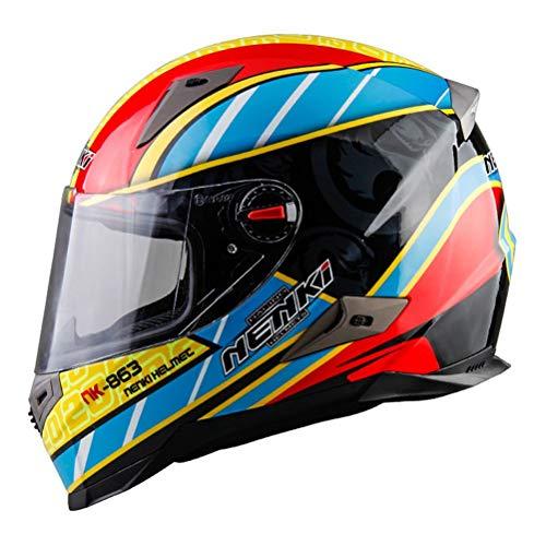 Preisvergleich Produktbild Männer Frauen Flip Up Motorradhelme Chopper Scooter Cruiser Integralhelm ABS Anti Fog Vollschutz Motocross Helm Racing Schutzkappen