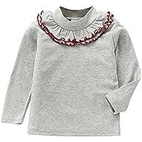 Baby Girl Basic Shirt Camiseta de mangas largas Sudadera con capucha para 1-6 Years Old Little Princess