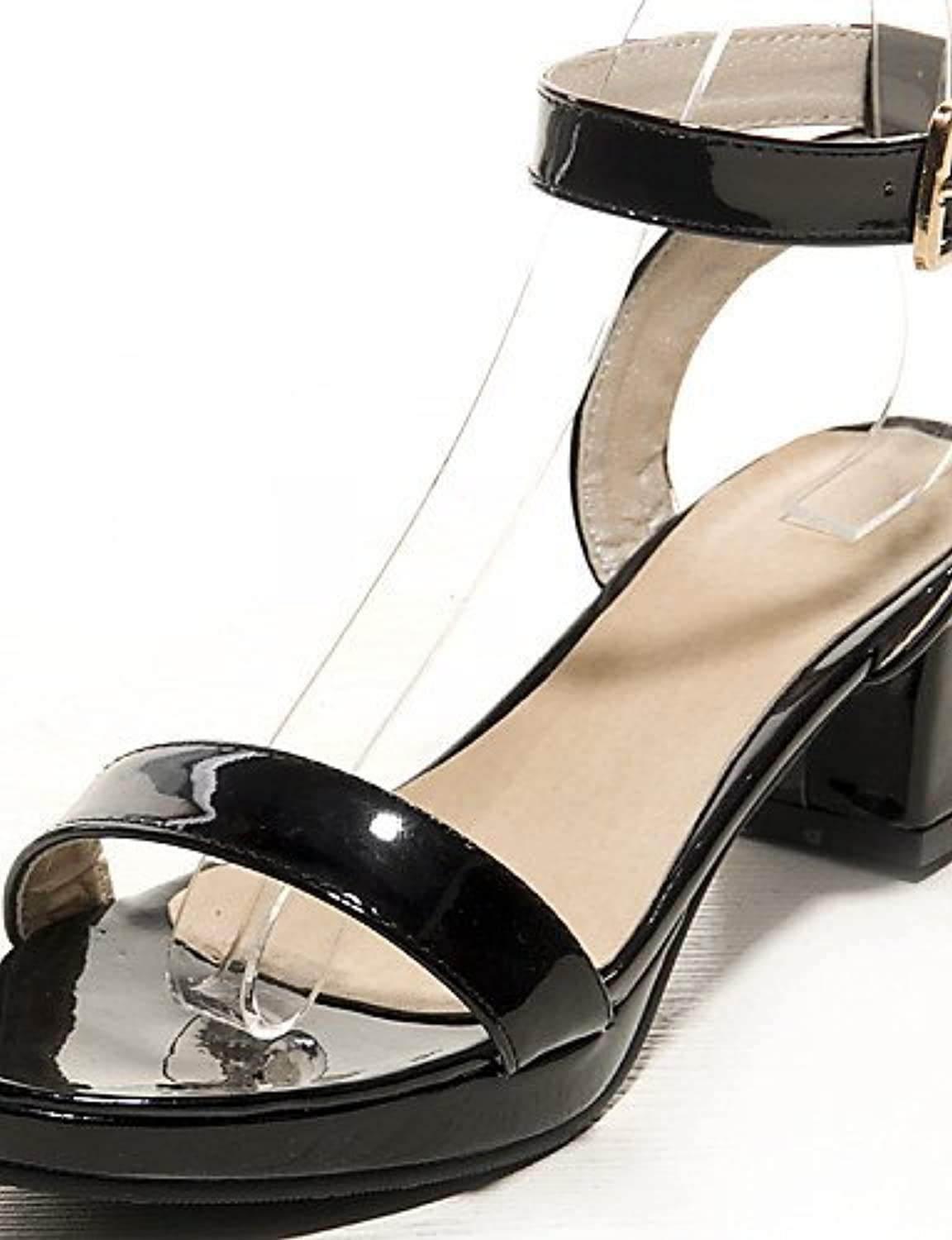 72750df98bb2 ShangYi Women s Shoes Chunky Heel Platform   D Orsay D Orsay D Orsay   Two- Piece   Ankle Strap Sandals Casual Black   Green  ... B01FZJLLDK Parent  d21b9c