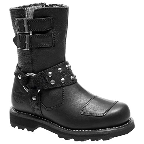 Harley Davidson Womens Marmora Black Leather Boots 39 EU
