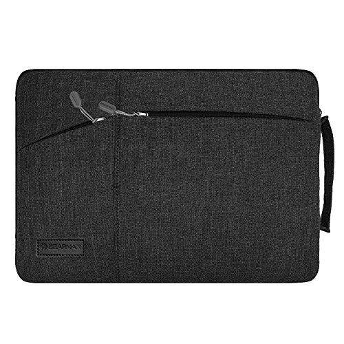 Filz Laptop Hülle Sleeve Ultrabook Tasche - Yarrashop Notebook Einfache Stil Wasserdichte Nylon Stoff Notebook Sleeve für Microsoft Surface Pro 2017, 4/3/2 Macbook Air 11,6 Zoll Schwarz