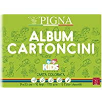 Pigna Kids Album Cartoncini Colorati, 24 x 33 cm