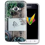 dessana Frühling transparente Silikon TPU Schutzhülle 0,7mm dünne Handy Soft Case für Samsung Galaxy J1 (2016) Schmetterling Garten