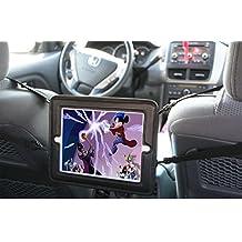 Nueva funda Rasfox RoadCinema–Soporte de reposacabezas de coche soporte multiposición para iPad 123ª 4ª Generación, para la mayoría de coches