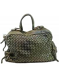55f8bcb09214a BZNA Bag Marie verde sheep Italy Designer Damen Handtasche Schultertasche  Tasche Schafsleder Shopper…