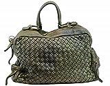 BZNA Bag Marie verde sheep Italy Designer Damen Handtasche Schultertasche Tasche Schafsleder Shopper Neu