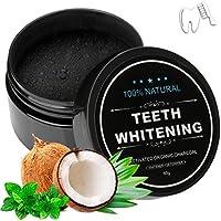 Wotek blanqueamiento dental, polvo de blanqueamiento de carbón activado natural, polvo de blanqueador dental de carbón activado, blanqueamiento de dientes 60g