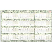 Boxclever Press 2019 Wall Planner Calendar. Home or Office Wall Chart. Runs from January 2019 to December 2019. Includes All Main UK Dates and Holidays. Non-Laminated (Year Linear)