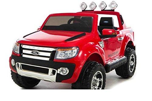 Babycar 550r - Auto Elettrica Jeep Suv Ford Ranger Full Optional con Telecomando, 12 Volt, Rosso