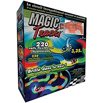 Circuit 3 Dans Tracks À MètresModulable Magic 35 Vu Le La Lumineux Télé Brillant Noir CWQBroxde
