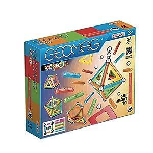 Geomag- Confetti Construcciones magnéticas y Juegos educativos,, 32 Piezas (350)