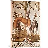 "Cuadro en lienzo: Pietro Rotati ""Two Greyhounds"" - Impresión artística de alta calidad, lienzo en bastidor, 75x100 cm"