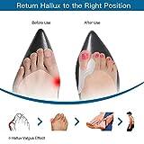2 Pares Juanete Protector Gel Cojín Pad Alivio del Dolor Hallux Valgus Toe separador de silicona, Enderezador para dedo gordo del pie, corrector de juanetes