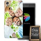 dessana Eigenes Foto transparente Schutzhülle Handy Tasche Case für Sony Xperia X