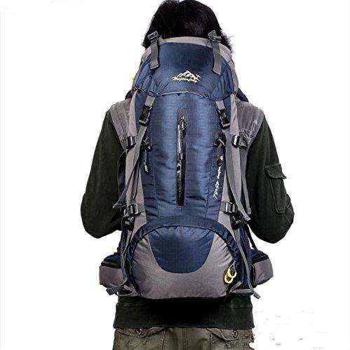 BM Campeggio arrampicata escursionismo parapioggia borsa zaino grande capacità per uomini e donne 50L , green navy blue