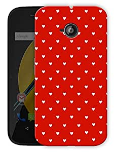 "Humor Gang Cute Little Hearts - Red Printed Designer Mobile Back Cover For ""Motorola Moto E"" (3D, Matte Finish, Premium Quality, Protective Snap On Slim Hard Phone Case, Multi Color)"