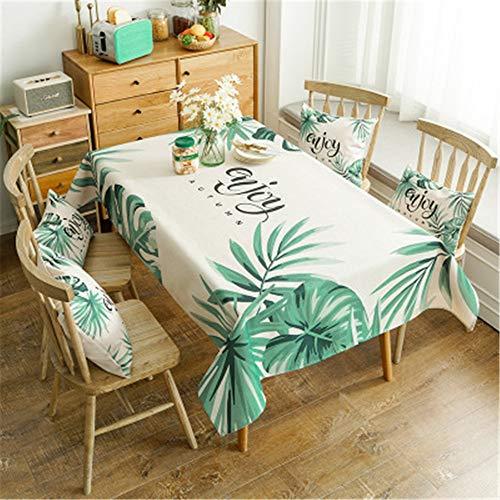 QWEASDZX Rechteckige Tischdecke Baumwolle und Leinen Klein frisch Umweltschutz Multifunktionale Tischabdeckung Geeignet für Innen und Außen Waschbare Fleckenschutzdecke 100x140cm