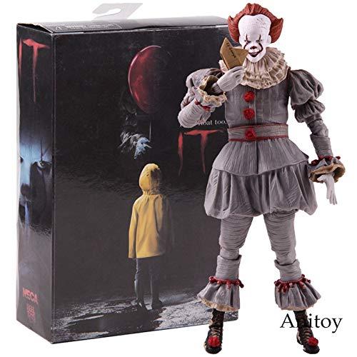 g Stephen King's Es ist der Clown Pennywise Figur PVC Horror Actionfiguren Sammlerstück Modell Spielzeug ()